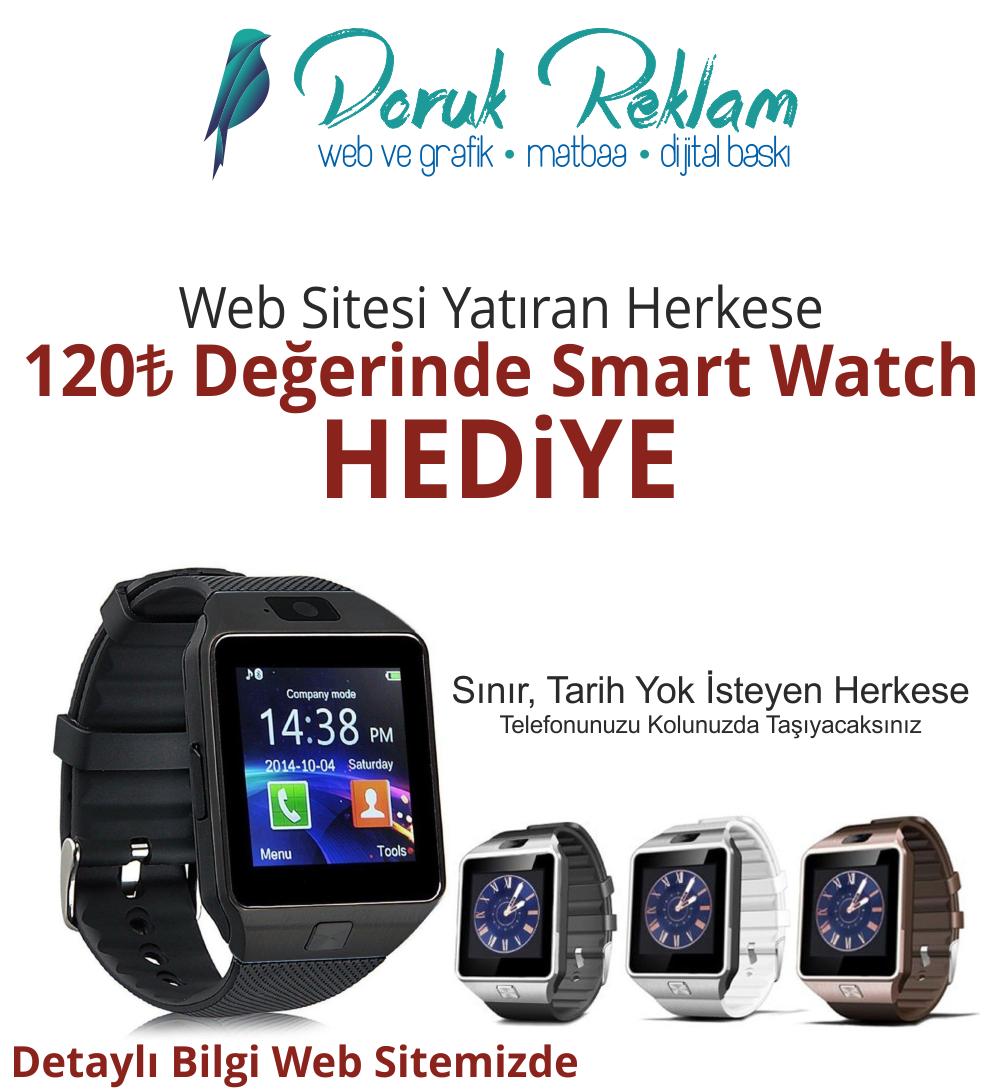 Web Sitesi Yaptıran Herkese Smart Watch Hediye
